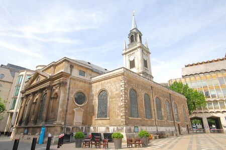 St Lawrence Jewry C of E church historical architecture London UK Standard-Bild