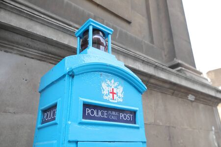Historical Police public call post London UK
