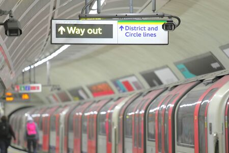 Métro métro train London UK Banque d'images