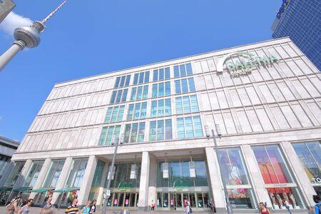 Berlin Germany - June 7, 2019: People visit Galeria Kaufhof shopping mall Berlin Germany