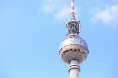 Berlin Germany - June 7, 2019: Berliner Fernsehturm TV tower Berlin Germany Editorial