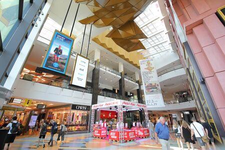Berlin Germany - June 7, 2019: People visit Media Markt shopping mall Berlin Germany