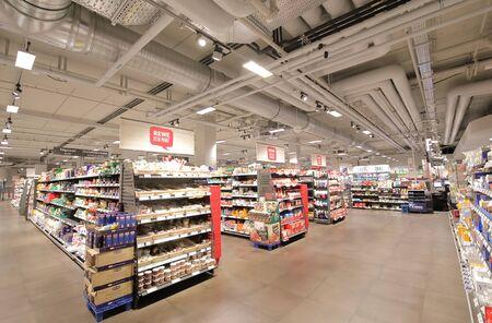 Berlin Germany - June 11, 2019: REWE supermarket in Berlin Germany Redactioneel