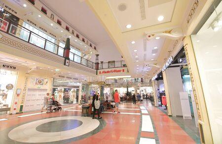 Berlin Germany - June 11, 2019: People visit Das Schloss shopping mall Berlin Germany