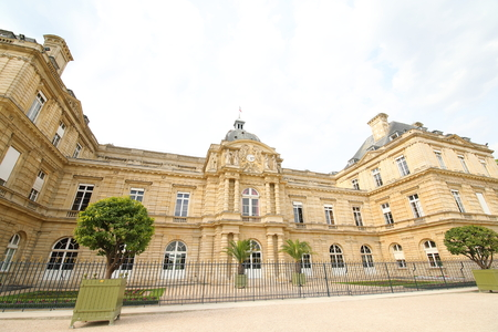 Luxembourg palace building Paris France Redactioneel