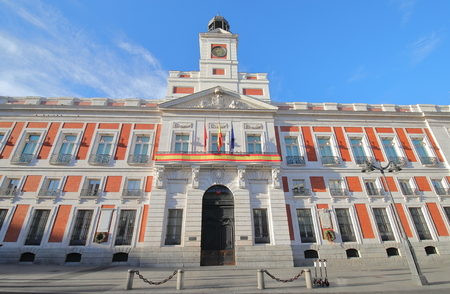 Royal House of the post office in Madrid Spain