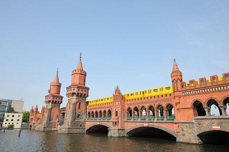 Oberbaum bridge historical architecture Berlin Germany