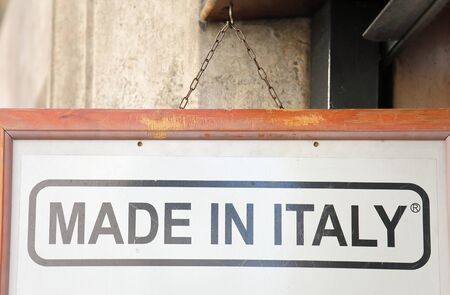 Made in Italy sign background