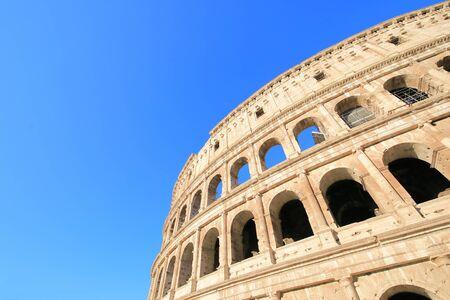 Colosseum historical building Rome Italy Banco de Imagens