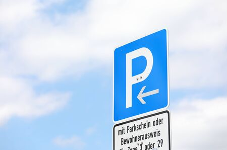 Car parking road sign Berlin Germany