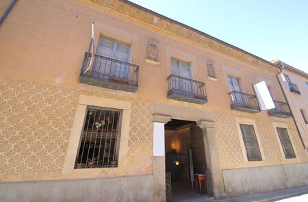 Segovia Spain - May 29, 2019: Official College of Architects of Segovia old building Segovia Spain Editorial