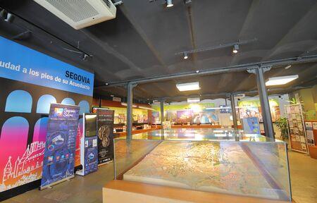 Segovia Spain - May 29, 2019: Tourist visitor information office Segovia Spain