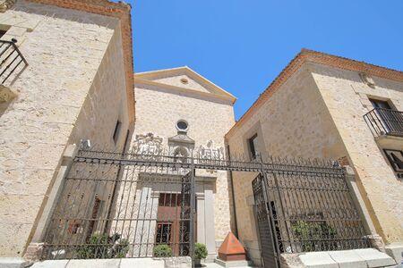 Segovia Spain - May 29, 2019: Former Capuchinos convent hotel old building Segovia Spain Editorial