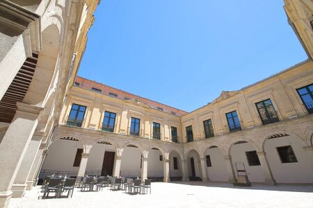 Segovia Spain - May 29, 2019: Episcopal Palace Diocesan museum old building Segovia Spain Editorial