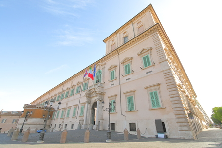 Quirinal palace historical building Rome Italy