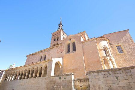 San Martin church cathedral old building Segovia Spain 写真素材