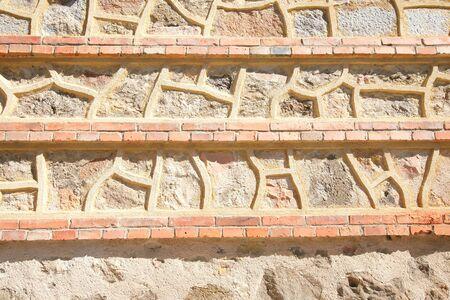 External wall design of historical town Segovia Spain