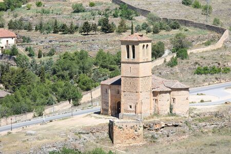 La Vera Cruz church old building Segovia Spain