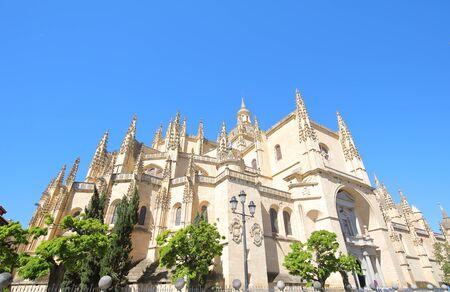 Segovia cathedral church old building Segovia Spain