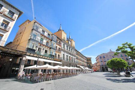 Plaza Mayor square old town Segovia Spain