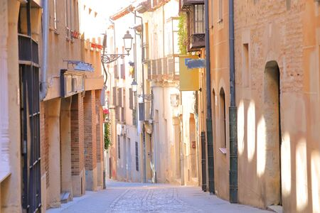 Old town alleyway cityscape Segovia Spain