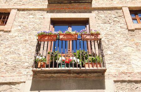 Old apartment building cityscape Segovia Spain
