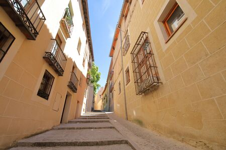 Jewish district old building Segovia Spain