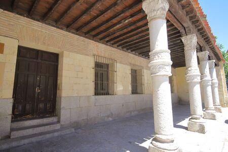 San Nicolas church old building Segovia Spain 写真素材