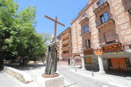 Old town Segovia cityscape Spain