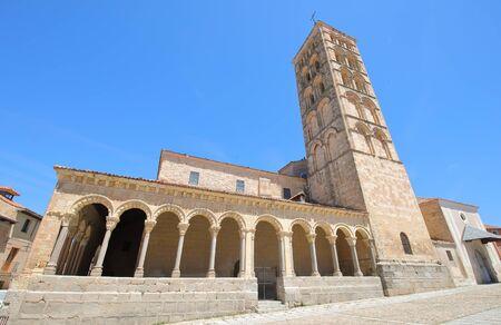 San Esteban church old building Segovia Spain