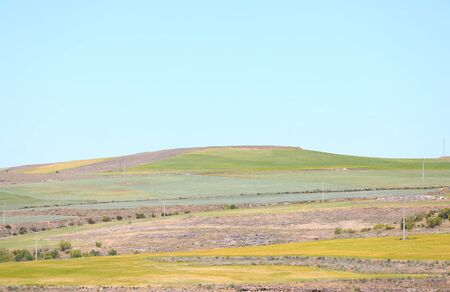 Green hill landscape Segovia Spain background