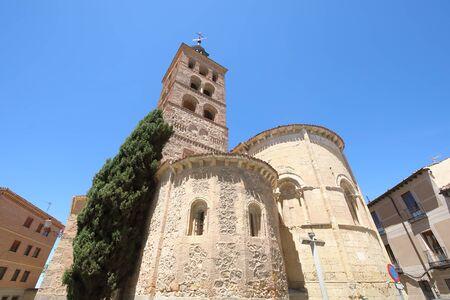 San Andes church old building Segovia Spain