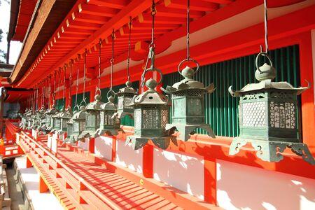 Kasuga Taisha shrine Nara park Nara Japan 写真素材