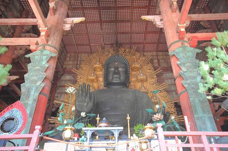 Iconic Todaiji temple Nara Japan