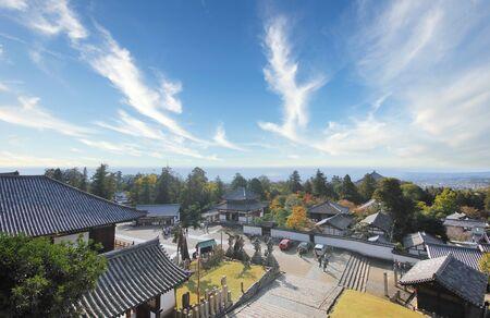 Todaiji temple Nara park view Nara Japan