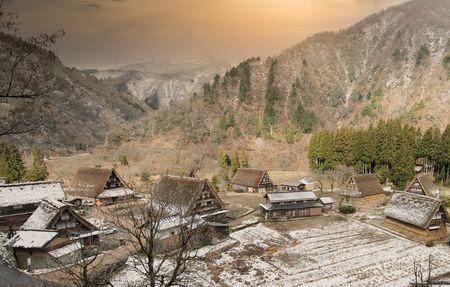 Shirakawago Gassho style house Gifu Japan 写真素材