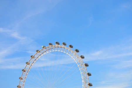 London Eye close up London England 報道画像