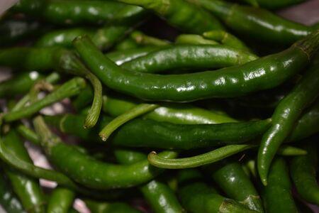 Green Chillies Stock Photo