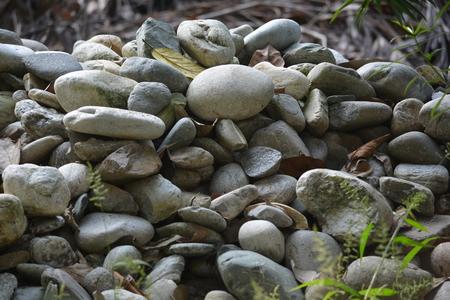Pile of stones.