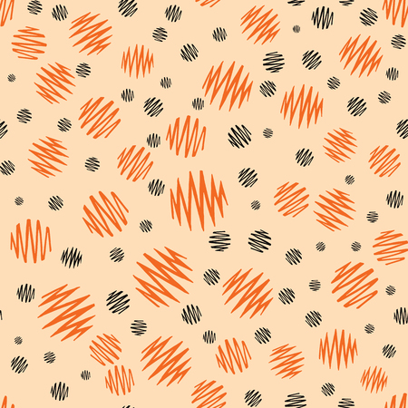 wallpapaer: Halloween holiday design with orange and black grunge abstract round elements. Bright textile or Halloween party background. Abstract and geometric template.