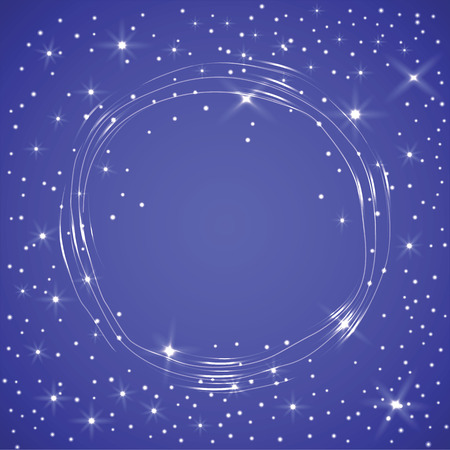 colden: Vector colden Christmas or New Year time glowing circle frame for any design Illustration