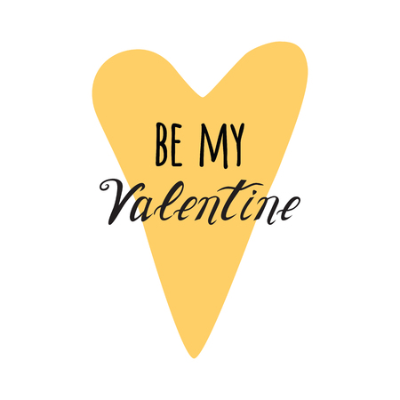 Be My Valentine Hand Drawing Vector Lettering design element
