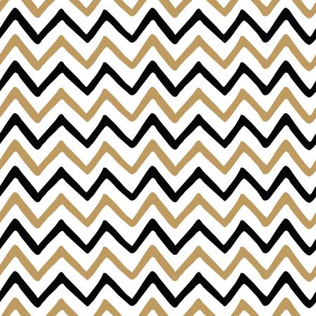 ジグザグ ジグザグ手触りの生地とシームレスなパターン ベクトル