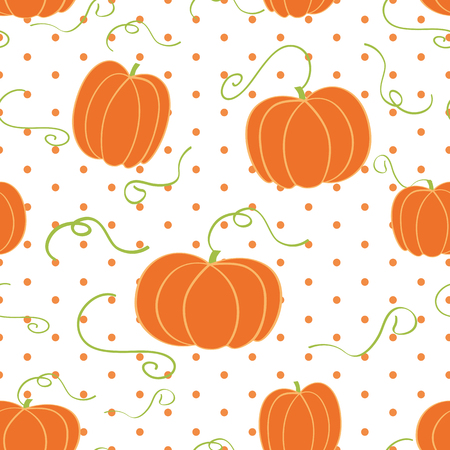 Vector hand drawn pumpkin background seamless pattern Illustration