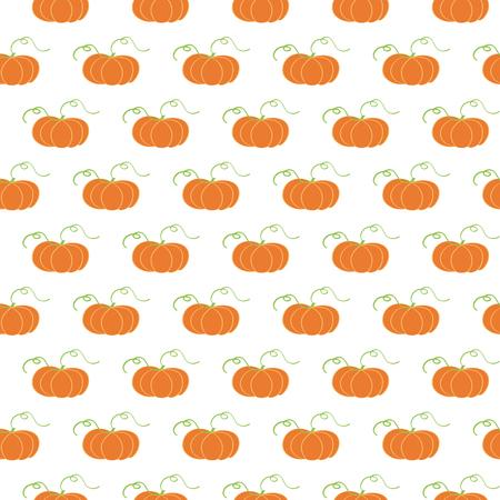 Ilustración de vector con mano dibujado patrones sin fisuras de fondo de calabaza. Lindo diseño textil de otoño. Plantilla de otoño para tela, diseño de paquete, abrigo, papel pintado, mantel, tela, paño. Muestra de tela Foto de archivo - 84591460