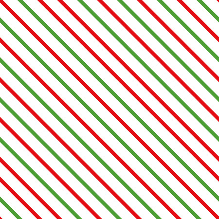 Abstract diagonal traditional Merry Christmas background. Seamless pattern made on red green color. Geometric lines template. Texture can be used for wallpaper, pattern fills, web page for New Year Ilustração