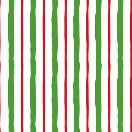 Abstract horizontal traditional green Christmas pattern.