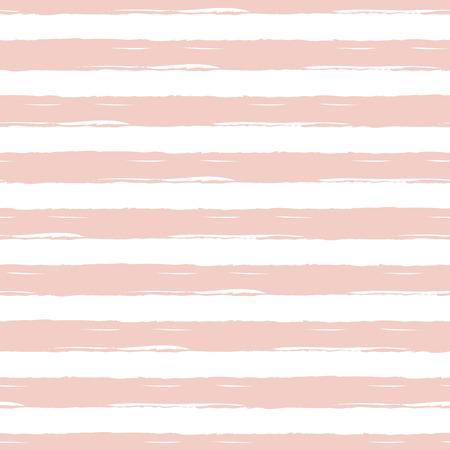 Pattern with light pink summer hand drawn stripes. Ilustração