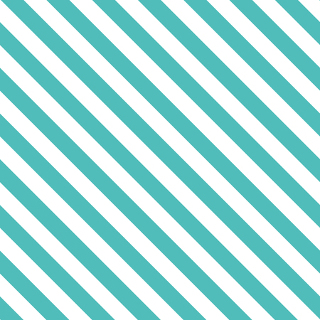 Seamless pattern with decorative diagonal background of lines in turquoise color. Ilustração