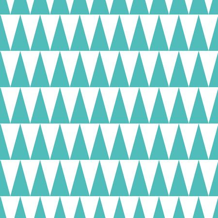 ターコイズとホワイトカラーで作られたシームレスなトレンディなパターン。幾何学的テンプレート。三角形から作られたアクアマリンの背景。Azure 写真素材